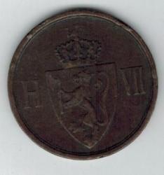 Moneda > 2öre, 1906-1907 - Noruega  - reverse