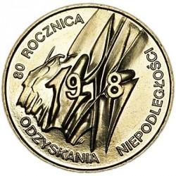 Moneda > 2zlote, 1998 - Polonia  (80 aniversario - Independencia de Polonia) - reverse