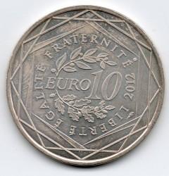 Moneda > 10euros, 2012 - Francia  (Regiones franceses - Champagne-Ardenne) - reverse