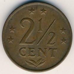Moneta > 2½centesimi, 1970-1978 - Antille Olandesi  - obverse