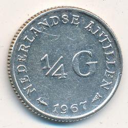 Moneta > ¼fiorino, 1954-1970 - Antille Olandesi  - obverse