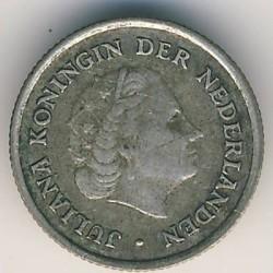 Монета > 1/10гульдена, 1954-1970 - Нідерландські Антильські острови  - obverse