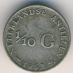 Монета > 1/10гульдена, 1954-1970 - Нідерландські Антильські острови  - reverse