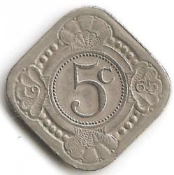 Moneta > 5centesimi, 1957-1970 - Antille Olandesi  - reverse