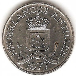 Coin > 25 cents, 1970-1985 - Netherlands Antilles  - reverse