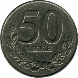 Minca > 50lekë, 1996-2000 - Albánsko  - obverse