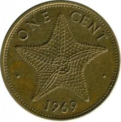 Монета > 1цент, 1966-1969 - Багамські острови  - reverse