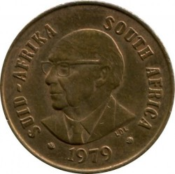 Coin > 1cent, 1979 - South Africa  (End of Nicolaas Johannes Diederichs' Presidency) - reverse