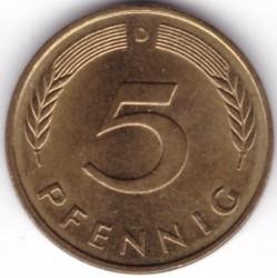 Münze > 5Pfennig, 1993 - Deutschland  - reverse