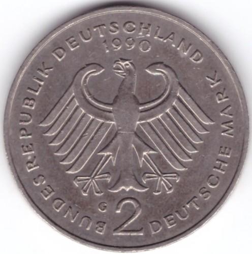 2 deutsche mark 1990 цена один юань фото