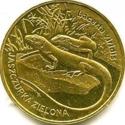 Coin > 2zlote, 2009 - Poland  (European green lizard) - reverse