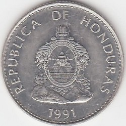 Moneta > 50sentavų, 1991-1994 - Hondūras  - obverse