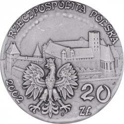 Moneda > 20 zlotych, 2002 - Polonia  (Polish Castles and Palaces - Malbork Castle) - obverse