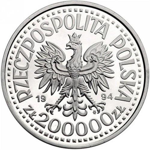 200000 Zloty 1994 Disabled Association Polen Münzen Wert