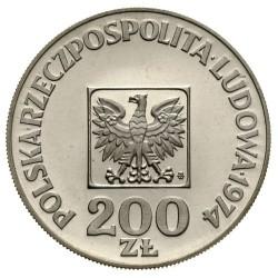 Кованица > 200злота, 1974 - Пољска  (30th Anniversary of Peoples Republic) - obverse
