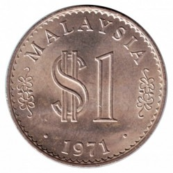 Coin > 1 ringgit, 1971-1986 - Malaysia  - reverse