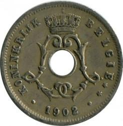 Minca > 5centimes, 1902-1903 - Belgicko  (Legend in Dutch - 'BELGIË') - obverse