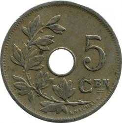 Minca > 5centimes, 1902-1903 - Belgicko  (Legend in Dutch - 'BELGIË') - reverse