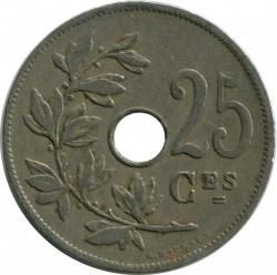 Munt > 25centimes, 1913-1929 - Belgie  (Legend in French - 'ROYAUME DE BELGIQUE') - obverse