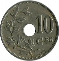 Moneta > 10centymów, 1920-1930 - Belgia  (Legenda po holendersku - 'KONINKRIJK BELGIË') - obverse