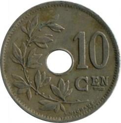Moneta > 10centymów, 1920-1930 - Belgia  (Legend in Dutch - 'KONINKRIJK BELGIË') - reverse