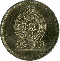 Moneda > 5rupias, 1984-2004 - Sri Lanka  - reverse