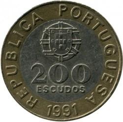Монета > 200ескудо, 1991-2001 - Португалия  - obverse