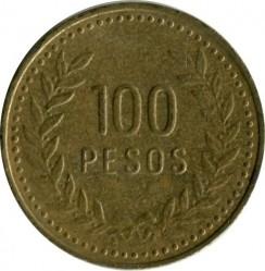Moneda > 100pesos, 1992-2012 - Colombia  - obverse