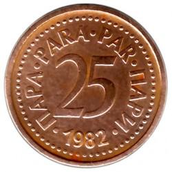 Munt > 25para, 1982-1983 - Joegoslavië  - reverse