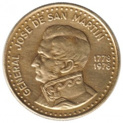Moneda > 50pesos, 1978 - Argentina  (200 aniversario - Nacimiento de José de San Martín) - obverse