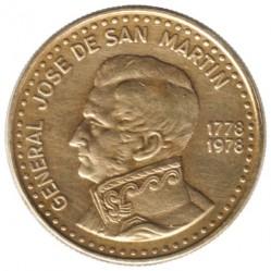Moneda > 50pesos, 1978 - Argentina  (200 aniversario - Nacimiento de José de San Martín) - reverse