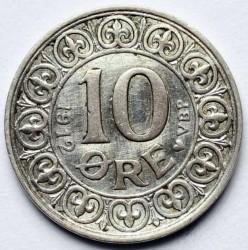 Münze > 10Öre, 1912 - Dänemark   - reverse