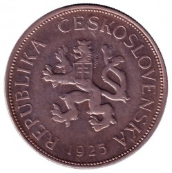 Νόμισμα > 5Κορούν(Κορώνες), 1925-1927 - Τσεχοσλοβακία  - obverse