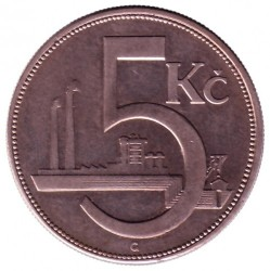 Νόμισμα > 5Κορούν(Κορώνες), 1925-1927 - Τσεχοσλοβακία  - reverse