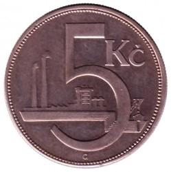 Moneda > 5coronas, 1925-1927 - Checoslovaquia  - reverse