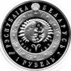 Moneda > 1rublo, 2009 - Bielorrusia  (Signos del Zodiaco: Aries) - obverse