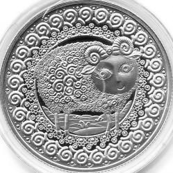 Moneda > 1rublo, 2009 - Bielorrusia  (Signos del Zodiaco: Aries) - reverse