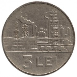 Moneta > 3lei, 1966 - Romania  - reverse