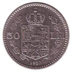 Moneda > 50lei, 1937-1938 - Rumanía  - reverse