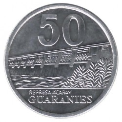 Coin > 50 guaranies, 2006-2016 - Paraguay  - reverse