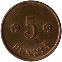Münze > 5Penny, 1922 - Finnland  - reverse