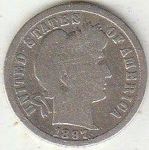 Moneda > 1dime, 1897 - Estados Unidos  (Dime Barber) - reverse