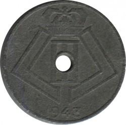 錢幣 > 5生丁, 1941-1943 - 比利時  (Legend - 'BELGIQUE - BELGIE') - obverse