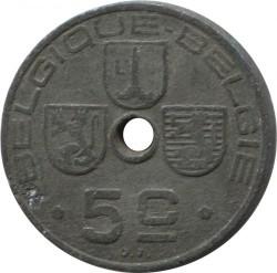 錢幣 > 5生丁, 1941-1943 - 比利時  (Legend - 'BELGIQUE - BELGIE') - reverse