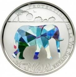 Moneta > 100franchi, 2011 - Togo  (Protezione della fauna selvatica - Elefante) - reverse