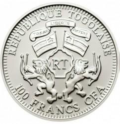 Moneta > 100franków, 2011 - Togo  (Ochrona przyrody - Zebra) - obverse