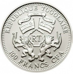 Moneta > 100franków, 2011 - Togo  (Ochrona przyrody - Zebra) - reverse