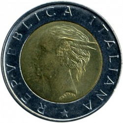 Coin > 500 lire, 1998 - Italy  (20th Anniversary - IFAD) - obverse