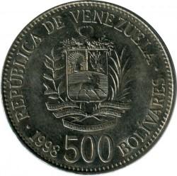 Münze > 500Bolivares, 1998 - Venezuela  - obverse