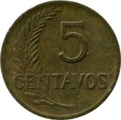 Moneta > 5centavos, 1945-1965 - Peru  - reverse